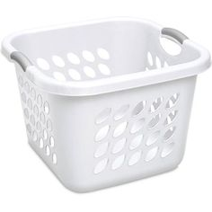 Sterilite 1.5 Bushel Square Laundry Basket- White (Available in Case of 6 or Single Unit)