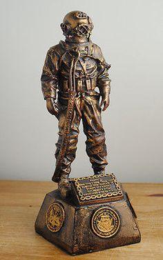 Deep Sea Diver Metal Figure MkV Helmet Taucherhelm Military Diving Scaphandrier - http://scuba.megainfohouse.com/deep-sea-diver-metal-figure-mkv-helmet-taucherhelm-military-diving-scaphandrier/