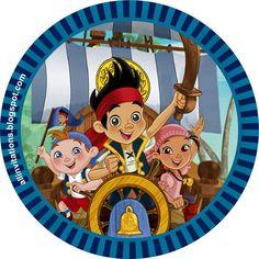 Etiqueta redonda Jake y los piratas