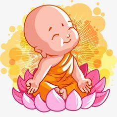 Ensamble Buddha Drawing, Buddha Painting, Baby Buddha, Little Buddha, Buddha Kunst, Buddha Art, Buddha Doodle, Cute Paintings, Buddha Buddhism