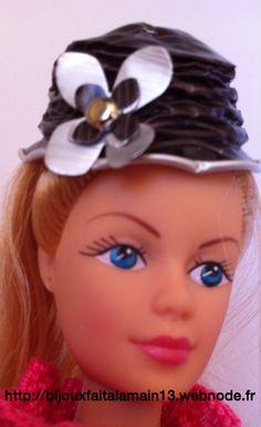 Chapeau avec capsules Nespresso Pour poupée Nespresso, Capsule, Creations, Band, Sombreros, Hat, Children, Bricolage, Jewerly