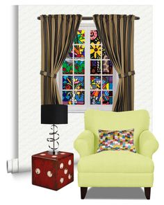 """Pop Art 1/4: Romero Britto... Stained Glass"" by maryv-1 ❤ liked on Polyvore featuring interior, interiors, interior design, home, home decor, interior decorating, Romeo Britto, Umbra and HiEnd Accents"
