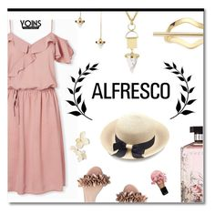 """""""Marble and blush"""" by ekaterina-uglyanitsa ❤ liked on Polyvore featuring L.K.Bennett, Elizabeth and James, STELLA McCARTNEY and alfrescodining"""