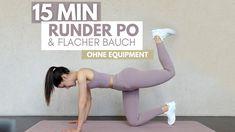FLACHER BAUCH + RUNDER PO I schöne, definierte Rundungen ohne Equipment,... At Home Workouts, Cinema, Sport, Tight Tummy, Circuit, Healthy, Nice Asses, Movies, Deporte