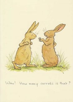 """Wow! How many carrots is that?"" Greeting Card"