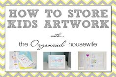 Ideas on how to store and organise kids drawing / artwork