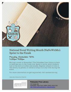 NaNoWriMo: Sprint to the Finish - Monday, November 30th, 2:00pm - 9:00pm