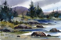 watercolor landscape paintings | Two New Watercolor Landscapes