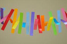 DIY - Décoration de mariage - Guirlande en papier facile | Blog mariage, Mariage original, pacs, déco
