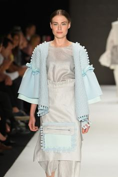 #newgenbyima #graduateshow #graduatecollection #istanbulmodaakademisi A model walks the runway for Lost in Memory by Merve Gulbudak at the New Gen By Ima show during Mercedes-Benz Fashion Week Istanbul at Zorlu Center on October 13, 2016 in Istanbul, Turkey.