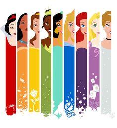 Disney Princesses :)) #snowwhite #pocahontas #belle #tiana #jasmine #aurora #ariel #rapunzel #cinderella