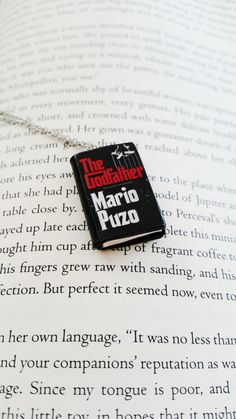 The Godfather Handmade Mini Book Necklace Clay Charms Pendant - Miniature Books - Book Gifts -Book Jewelry - Book Lover Gift