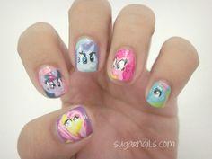 """""""My little pony"""" nail art."""