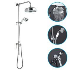 Hudson Reed Victorian Traditional Shower Mixer Rigid Riser Kit Diverter  AM312