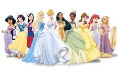 Disney princesses - Jasmine, Snow White, Mulan, Aurora, Cinderella, Pocahantas, Tiana, Belle, Ariel, Rapunzel <3