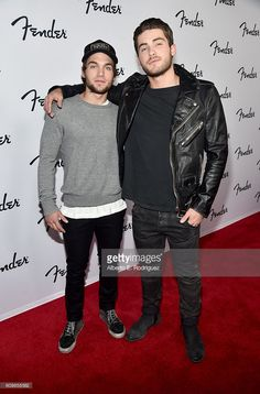 Actors Dylan Sprayberry (L) and Cody Christian attend the Fender Hollywood office Grand Opening with exclusive performances By Cold War Kids and Bleached on September 22, 2016 in Los Angeles, California.