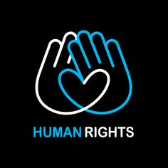 Human Rights logo; the hands coming together to make a heart. National Human Rights Day; Typography Logo, Logo Branding, Logo Monogramme, Logos Online, Logo Image, Logo Luxury, Hand Logo, We Are The World, Grafik Design