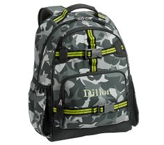Mackenzie Gray Shark Camo Backpacks | Pottery Barn Kids