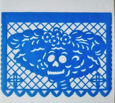 Papel picado 100 flags for Día de Muertos Mexican by MXArtsCrafts Day Of The Dead Drawing, Home Grown Vegetables, Native Design, Sugar Skull Art, Party Decoration, Memento Mori, Funny Art, Paper Cutting, Happy Halloween