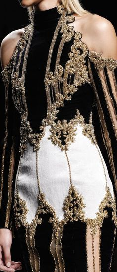 LUXURY BRANDS | The Haute Couture is specialized on the most beautiful dresses full of jewells, lace, with wonderful cuts and fabrics...Elie Saab and other luxury brands designers are examples of that, contributing to the most ecletic part of fashion. Click on the photo to read more about fashion world | www.bocadolobo.com #bocadolobo #luxuryfurniture #interiordesign #designideas #highendfashion #hautecouture #luxurybrands #fashiondesigners #fashionbrands #luxurydresses #fashion…