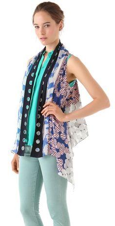 Diane von Furstenberg Scarf Vest...  Love this idea!
