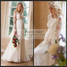 vestido de noiva 2015 Plus Size Lace Wedding Dress Elegant Long Sleeve Pregnant Maternity Wedding Dresses Vintage Bridal Gowns