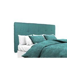 MJL Furniture Ali Button Tufted Text2 Olivia Teal Upholstered Headboard