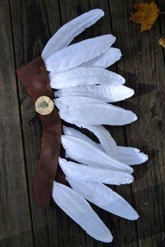 Felt feather headdress