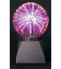 """Fortune Products 5"""" Nebula Ball """"Classic Plasma Ball"""" by Fortune Products. $27.36. This item is powered by an electrical adapter. Two Functions, Constant On or Sound Reactive. Includes 12V Electrical Adapter. Classic Plasma Ball--Equally appreciated as a gift, incentive, party decoration or room decor. This 5"""" diameter ball has a constant on or sound responsive setting. Touch the ball and the lightning is concentrated on your fingers. In sound responsive mode, the l..."""