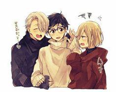 Yuri, Yurio, and Victor