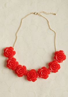 Paint The Roses Red Necklace ~ I'll switch the gold chain for a little ribbon!