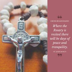 Praying The Rosary Catholic, Holy Rosary, Catholic Religion, Catholic Prayers, Catholic Saints, Father Mike Schmitz, St John Bosco, Pray More Worry Less, Praise And Worship Music