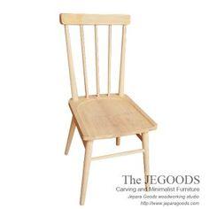 the Jepara Goods Woodworking Studio produced mid century chairs.   Model kursi cafe retro scandinavia Jepara Goods Indonesia furniture manufacturer.