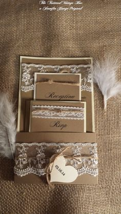 Rustic/Country Inspired Lace Wedding by TatteredVintageBox on Etsy, $145.00