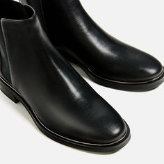 Image 7 of STRETCH LEATHER ANKLE BOOTS from Zara