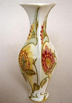 Top Dutch Art Nouveau Rozenburg Eggshell Porcelain vase Samuel Schellink 1903