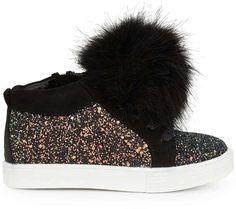 promo code 02c16 45c75 Sam Edelman Girls Bella Hira High Top Fur Sneaker