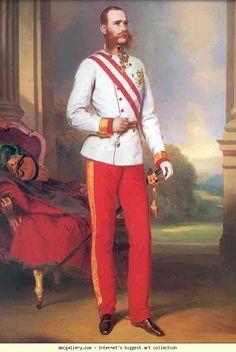 Franz Xaver Winterhalter. Emperor Franz Josef. Olga's Gallery.