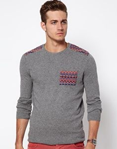 Enlarge ASOS Fairisle Patched Sweater