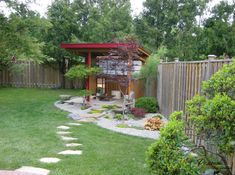 I love the idea of an Asian corner in my yard A place to meditate