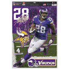 Minnesota Vikings Decal 11x17 Multi Use Adrian Peerson Design Special Order