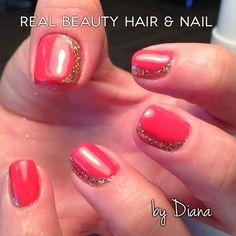 Crescent glitter nails