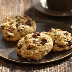 Chock full of oats, pecans and raisins, these cookies are perfect for a holiday treat.