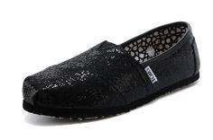 Toms Glitter Women Shoes Black $19.50