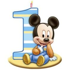Imagenes y elementos Minnie Baby & Mickey Baby Baby Mickey Mouse, Mickey Mouse Clubhouse, Festa Mickey Baby, Disney Mickey, Baby Mickey Cake, Mickey 1st Birthdays, Mickey Mouse First Birthday, Baby 1st Birthday, Happy Birthday