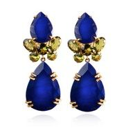 Blue Lapis and Yellow Citrine Earrings ~ GORGEOUS!!