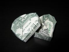 money origami heart box