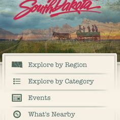 South Dakota Tourism iPhone App. Perfect for our summer vacation.