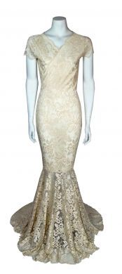 Ladieswear, Fashion Collections, Designer Clothing by Baylis & Knight - Wrap Front Fishtail Dress Low Cut Dresses, Formal Dresses, Wedding Dress Train, Wedding Dresses, Fishtail Skirt, Swing Dress, Evening Dresses, Knight, Lace