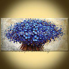 Aliexpress.com: Comprar Flor de pared Pintados a mano Imagen quadros cuadros cuchillo de paleta de pintura al óleo abstracta lienzo Arte moderno Hogar decorar la sala de estar de diseño de la sala decoración fiable proveedores en ArtupPainting